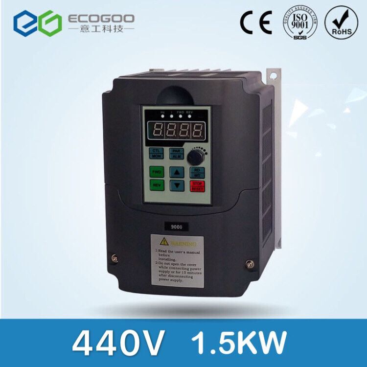 New 3 phase 440V 3.7A 1.5KW frequency Inverter VFD frequency AC drive