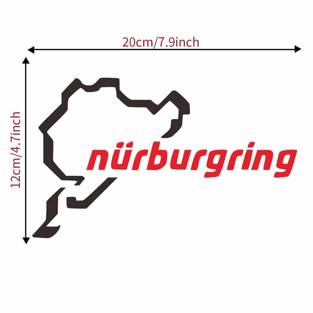 Etiqueta engomada del coche de la pista de carreras de Nurburgring etiqueta engomada divertida del coche ventana etiqueta peor signo de vinilo de coche decoración pegatinas