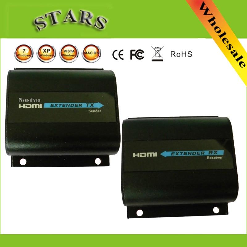 LKV372 Pro HDMI Extender Loop output Sender Receiver IR Converter Support HDMI 3D 1080P Up to 60 Meters Transmission Over Cat6