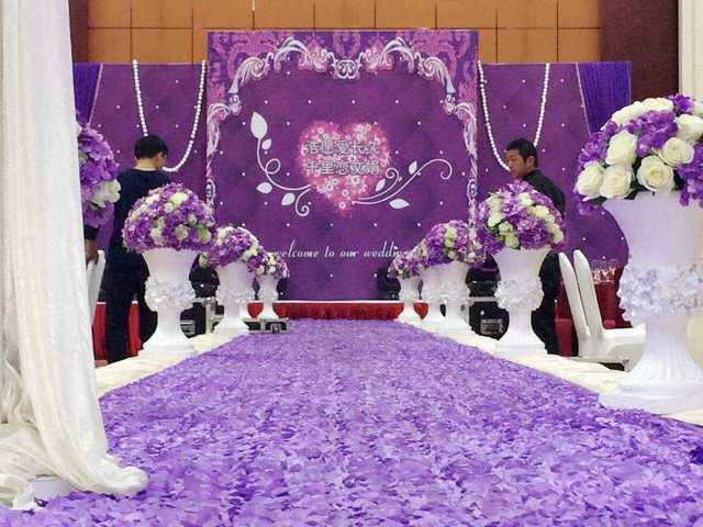 3d Lila Rose Blume Carpet Requisiten Hochzeitsdekoration Hochzeit