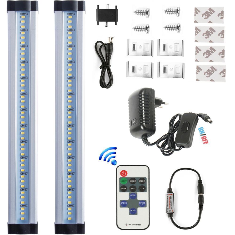 LED Under Cabinet Lighting, RF wireless Dimmable Under Counter Kitchen Lighting 12 Inches Cabinet Light Strips, 6W, 600 Lumens