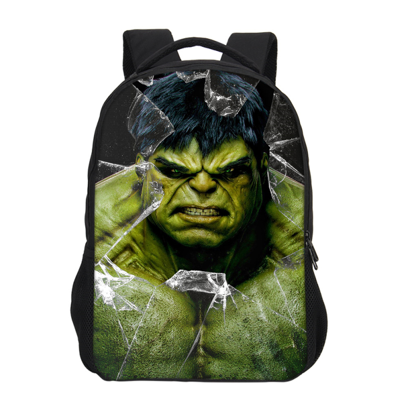 Hynes Eagle Brand Marvel Avengers Super Hero Hulk Printing Backpacks For Men Women Shoulder Bag Casual Laptop Backpacks Rucksack