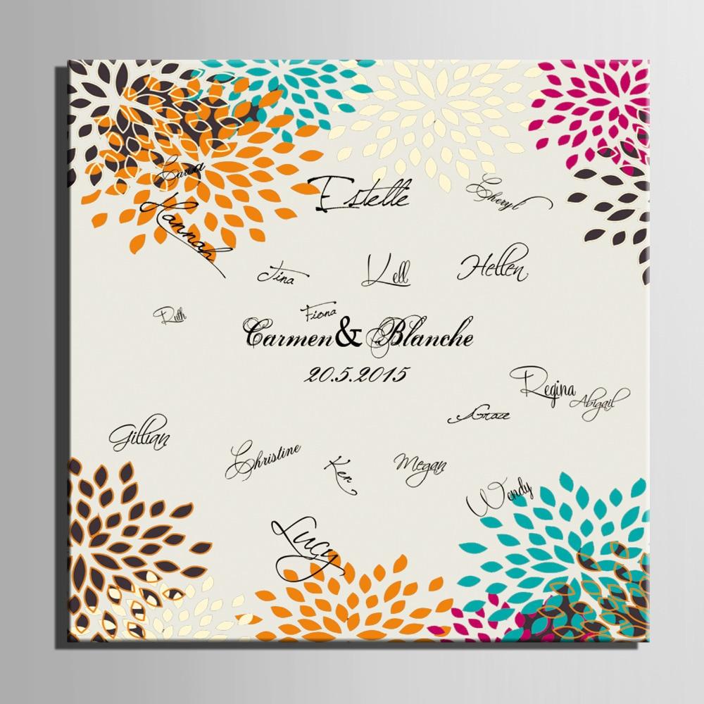 Assinatura do convidado Presente Do Partido Placa de Assinatura Da - Para feriados e festas