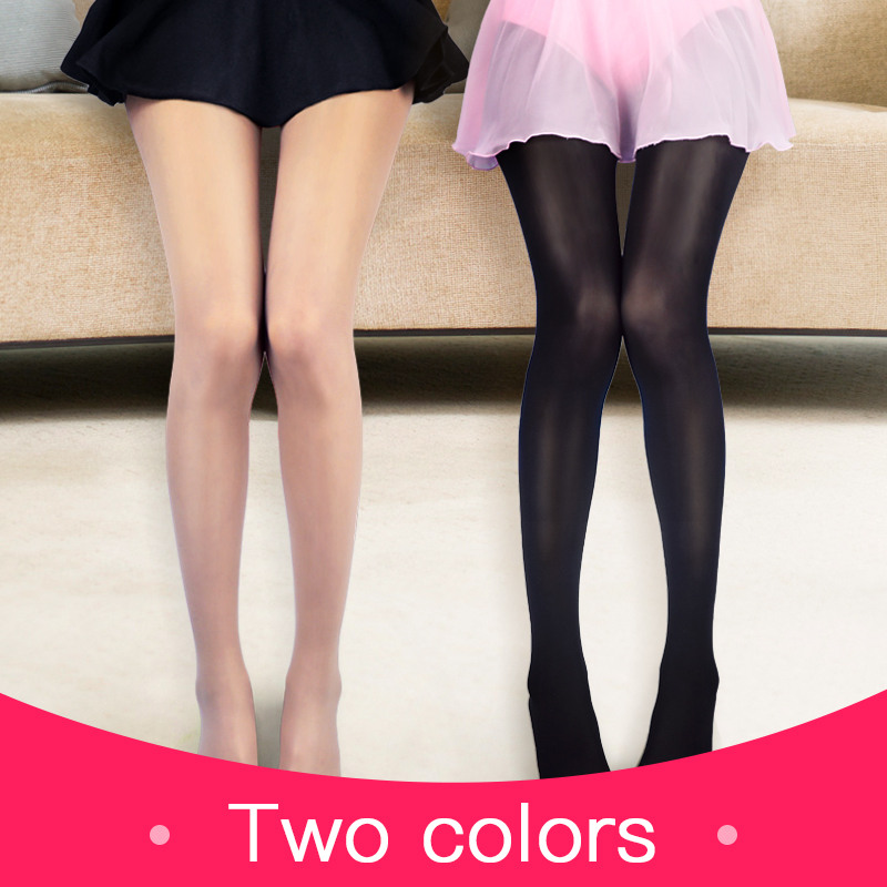 Women Thin Tights Seamless Pantyhose Plus Size Nude Dance Stockings Black High Elastic Magical Stocking Summer