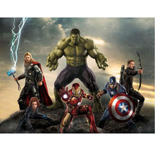 New 5d Diy Diamond Painting Avenger the Alliance Hulk Full Embroidery Kits Improve Childrens Handmade Ability
