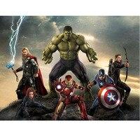 New 5d Diy Diamond Painting Avenger The Alliance Hulk Full Diamond Embroidery Painting Kits Improve Children
