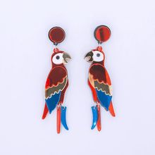 New European Fashion Night Club Hip Hop Exaggerated Jewelry Women Animal Color Acrylic Long Earrings