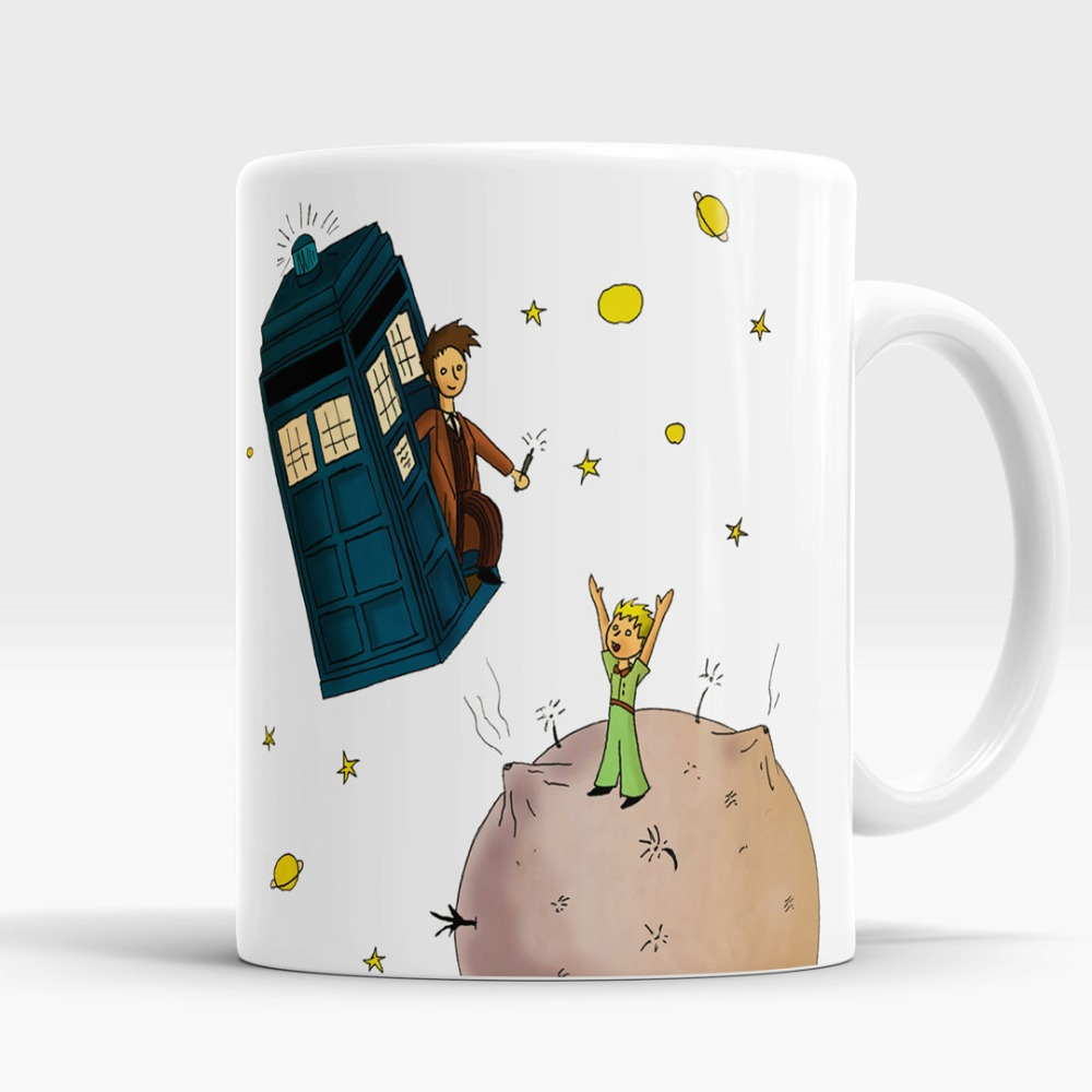 Doctor Who mugs The Little Prince Mug TARDIS Police Box coffee mugs travel mug white mug