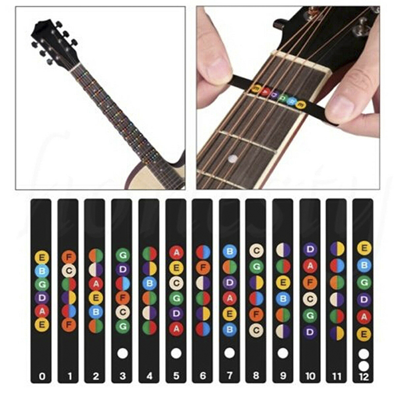 Popular Brand 2019 Universal Water Resistant Guitar Fretboard Note Labels Fingerboard Fret Stickers Multicolor Buy One Give One Stringed Instruments