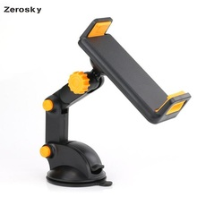 Zerosky Universal 2 in 1 360 Degree Scalable Car Dashboard Sucker Mount Mobile P