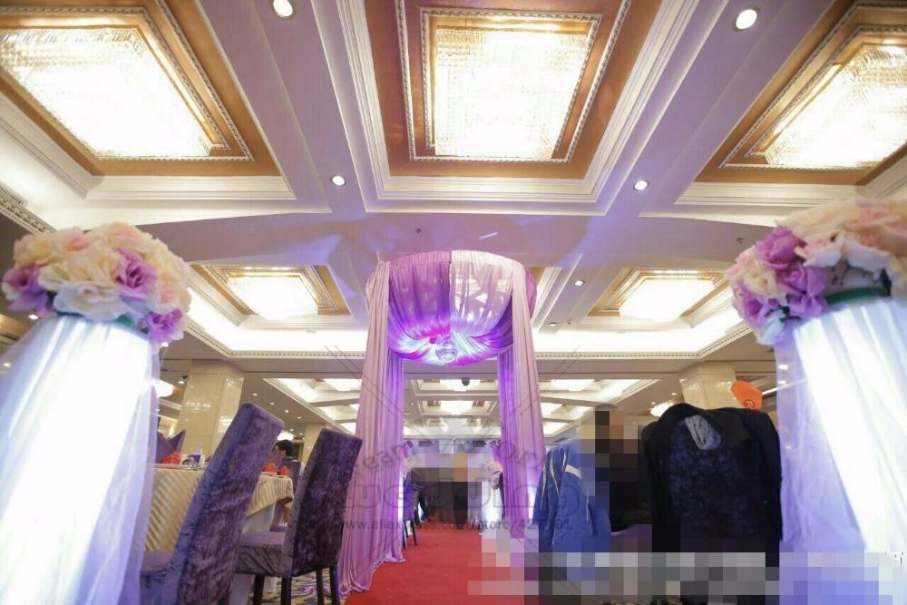M de Diâmetro 2 3 m Altura Lago azul Princesa Pavilhão cortina de Casamento adereços fontes do casamento (sem o suporte)