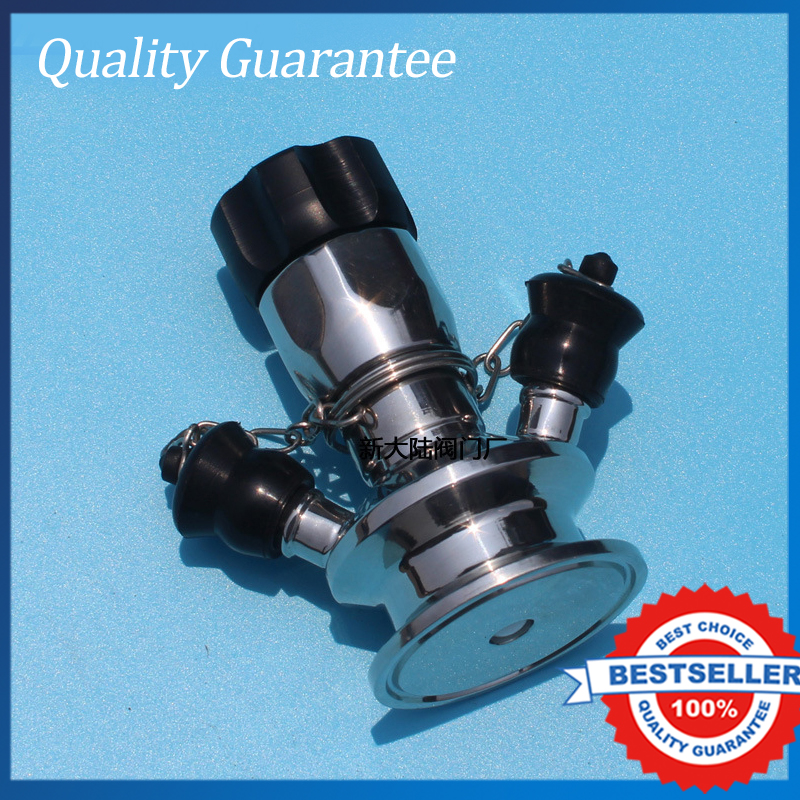 50.5mm Sanitary Sample Valve Aseptic Full Stainless Steel Sample Valve Food Grade Valve 2 sanitary stainless steel ball valve 2 way 304 quick installed food grade pneumatic valve double acting straight way valve