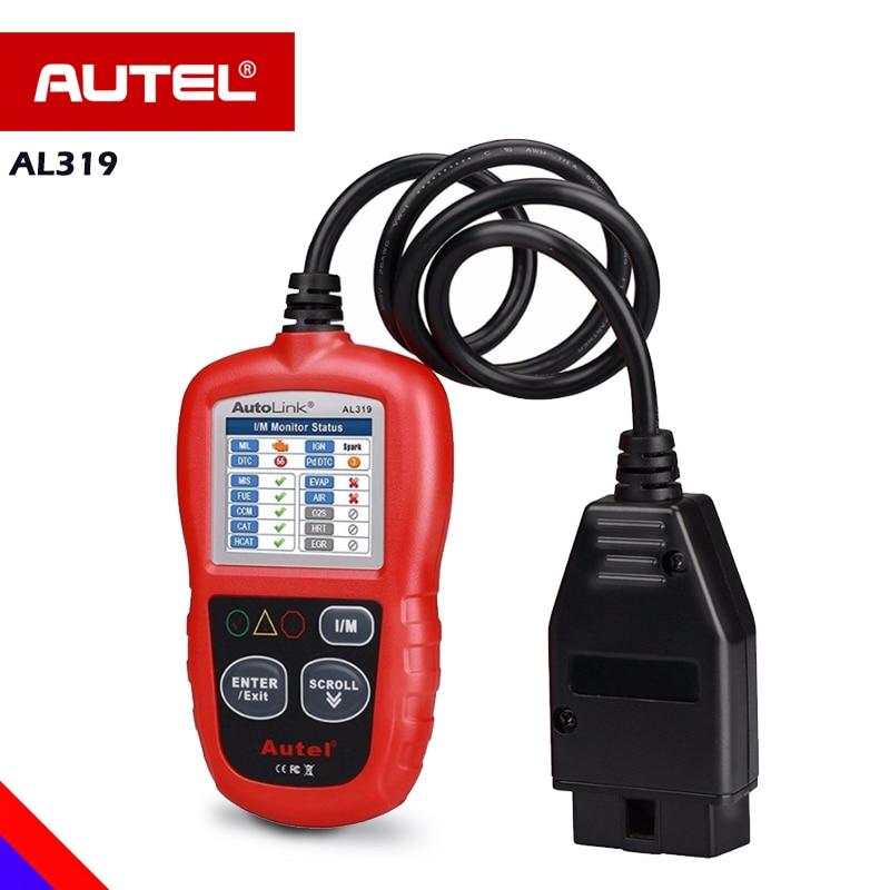 цена на Autel AL319 OBD OBD2 Car Diagnostic Scanner Automotivo AL619 ML619 AL419 AL539 AL539b OBD 2 PK ELM327 diagnostic scanner for car
