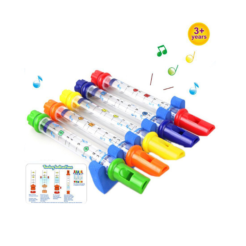 Huaile 5pcs Lot Row Kids Children Colorful Water Flutes