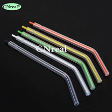 100 pcs/lot Dental Disposable Air Water Spray Nozzles Tips Tubes for 3-way Triple Syringe Dentist Lab Instrument