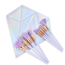 10pcs/set Unicorn Rainbow Makeup Brush kits Foundation Powder Contour Brush Make up Brush set with Bag Case Women Birthday Gift