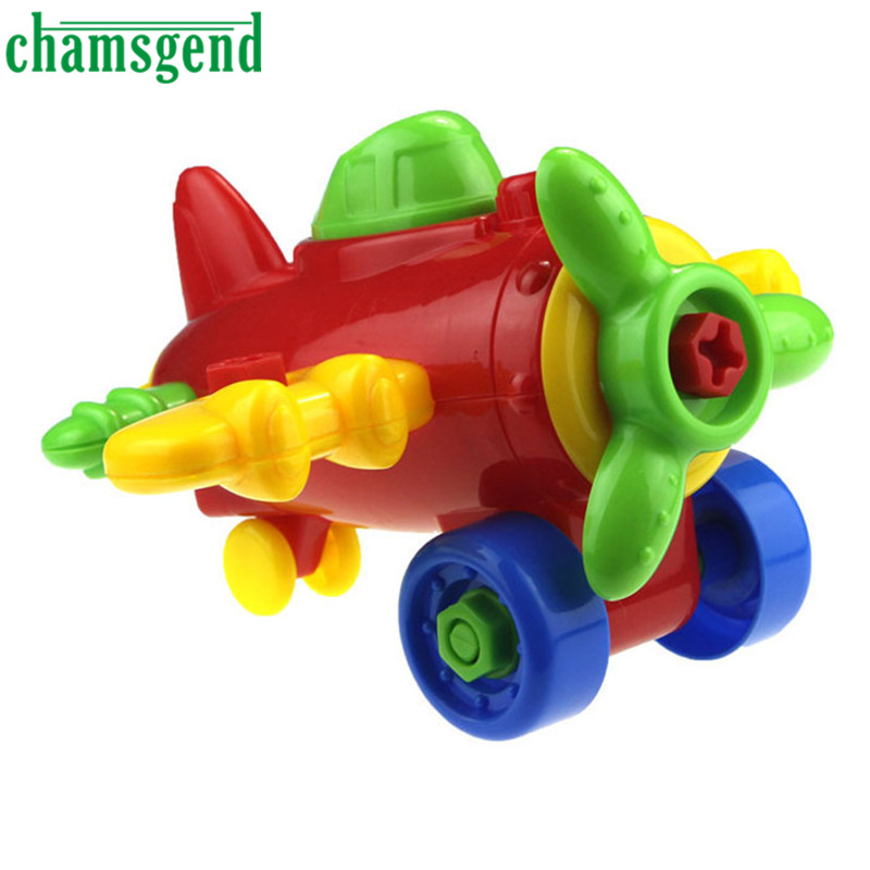 CHAMSGEND DIY Kids Child Assembly Cartoon Airplane Toys