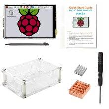 Hot sale 3.5 LCD TFT Touch Screen Display for Raspberry Pi 2 / Raspberry Pi 3 Model B Board + Acrylic Case +Stylus + Heatsink 7 tft lcd 800 480 touch screen display for raspberry pi 2 de