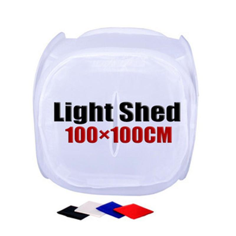 Prix pour 100 cm * 100 cm Ronde Lumière Tente Photographie Studio Accessoires Fond Tissu Lightbox Toile de Fond Photographie Studio Kit Boîte à Lumière