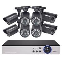 DEFEWAY 8 1200TVL 720P HD Outdoor CCTV Security Camera System 1080N Home Video Surveillance DVR Kit