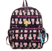 Kiple Harajuku Mignon Chat impression Fille et Garçon vent frais chat de bande dessinée sac étudiants sac belle Oxford sac à dos