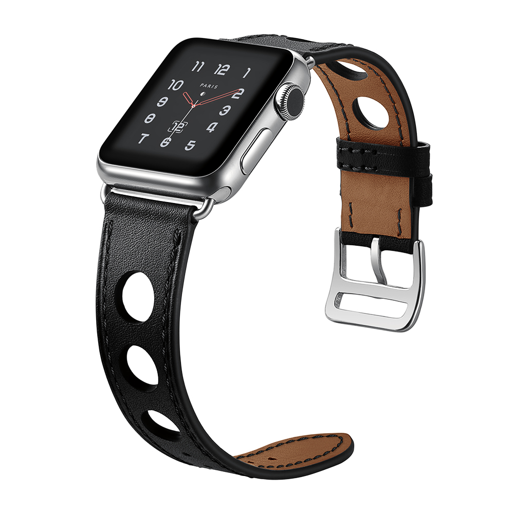 LEONIDAS Genuine Leather Single Tour for Apple Watch Band Single Tour Rallye Watch Strap for Apple Watch Bands 38mm And 42mm in Watchbands from Watches