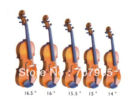 Viola Student violin Solid wood Finished Spruce top maple back Antique Color 16-14 one 4 string 4 4 violin electric violin acoustic violin maple wood spruce wood big jack green color