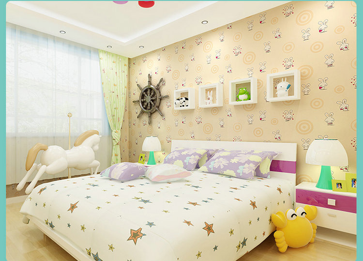 Kids Bedroom Background bunny rabbit cartoon environmetal girl boy children kids bedroom