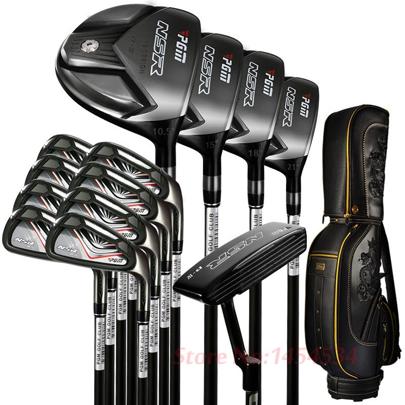 PGM Supreme Complete Golf Club Set with bag 13clubs Titanium For Men Driver+2Woods+Hybird+8Irons+Putter+Stand Bag +Head Covers mini golf club set golf ball sport abs golf club for children golf table with flag kids sport game toy gift children drop ship