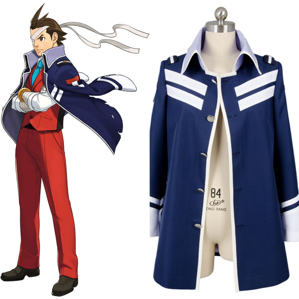 New Gyakuten Saiban 4 Apollo Justice: Ace Attorney Polly Coat Only Cosplay Costume