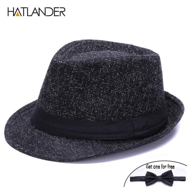 HATLANDER Fashion Linen fedora hats for men women Jazz cap casual sun top  hat Spring Summer Autumn travel billycock hat 6d760e48b65