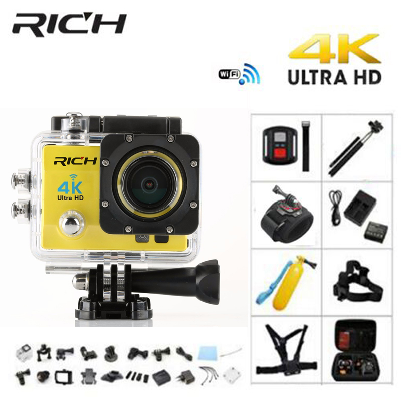 RICH Q5H pro Action camera Ultra HD 4K WiFi Full 1080P 60fps Diving underwater go waterproof Helmet Cam Sports action Camera H9 eken h8 h8r ultra hd 4k 30fps wifi action camera 30m waterproof 12mp 1080p 60fps dvr underwater go helmet extreme pro sport cam
