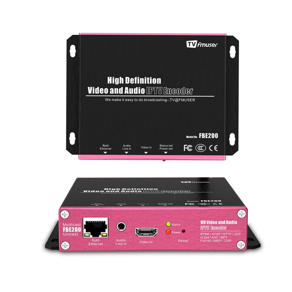 Codeur FMUSER H.264 HDMI codeur sans fil IPTV codeur vidéo codeur de diffusion en direct en direct FBE200-H.264-LAN