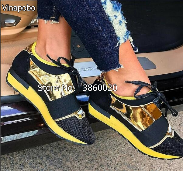 2018 Hot Latest Design Patchwork Luxury brand Men women Casual shoes size 36 46 lover Fashion Walking Shoes Flat leisure Shoes in Men 39 s Casual Shoes from Shoes