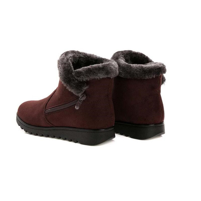 Women Ankle Boots New Fashion Waterproof Wedge Platform Winter Warm Snow Boots Shoes For Female 2