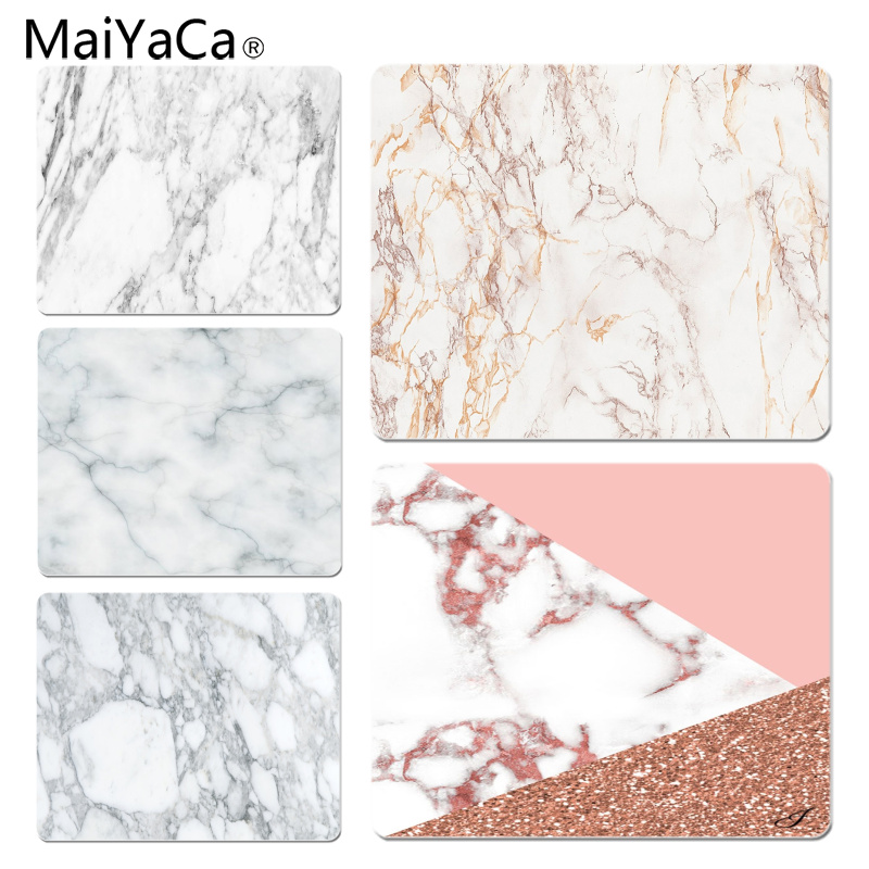 MaiYaCa Simple Design Gray and Black Marble gamer play mats Mousepad Size for 18x22cm 25x29cm Small Mousepad