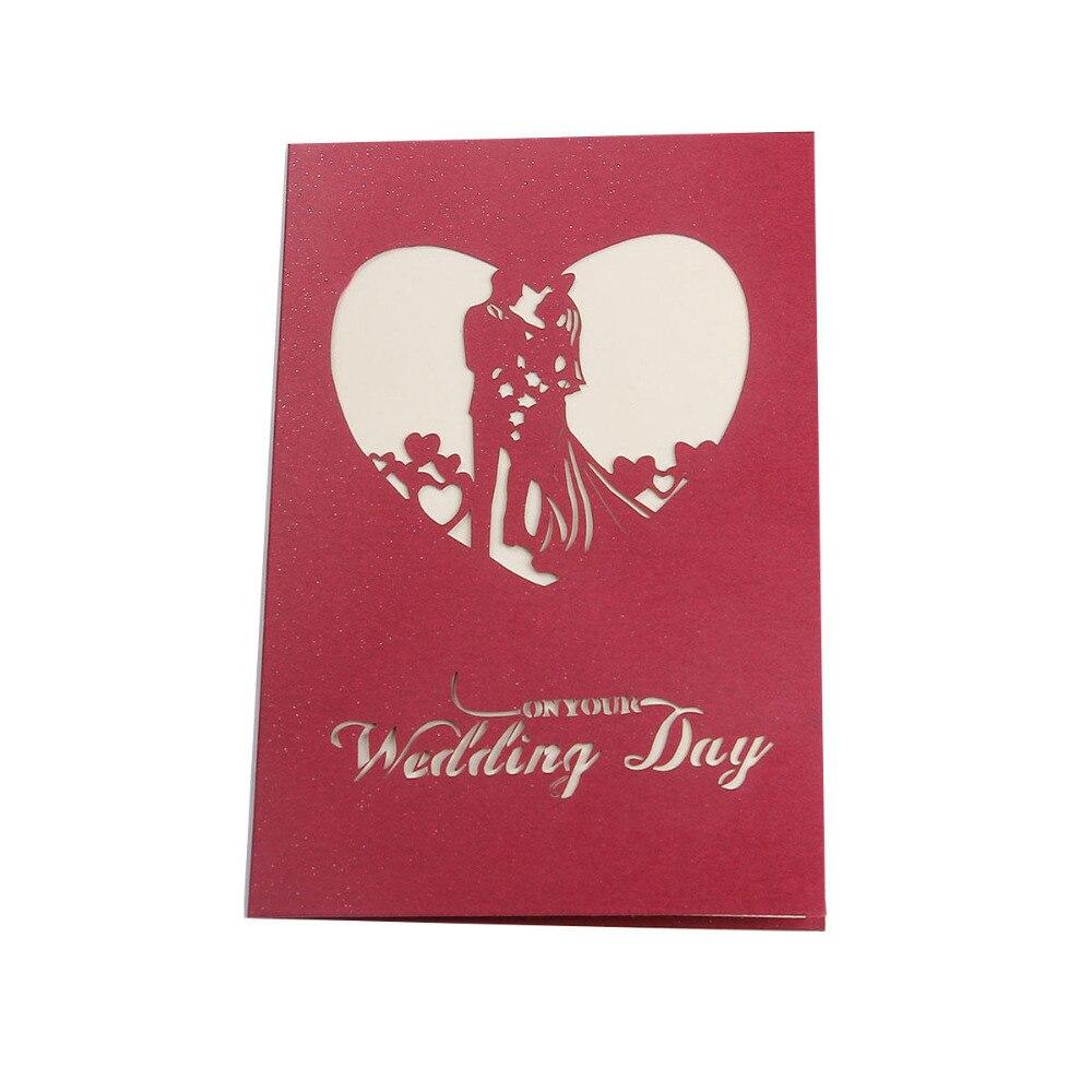 DoreenBeads Handmade 3D Wedding Party Invitation Card Greeting Cards ...