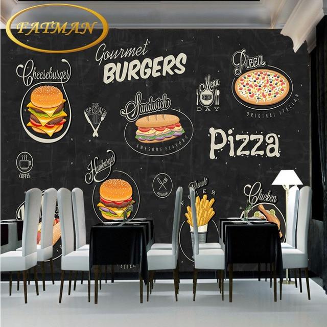 Tapete Hamburg fototapete handgemalte hamburger pizza shop hintergrund wohnzimmer