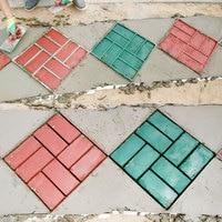Garden Concrete Molds creative DIY Plastic Path Maker Mold Paving Cement Brick Molds Stone Road Concrete Molds Tool