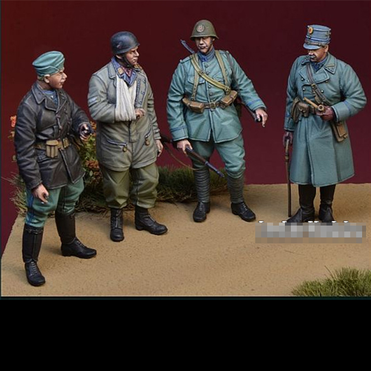 WWII Soldier Resin Model Dutch Military-Theme Queen Country-Infantry-Set Unassembled