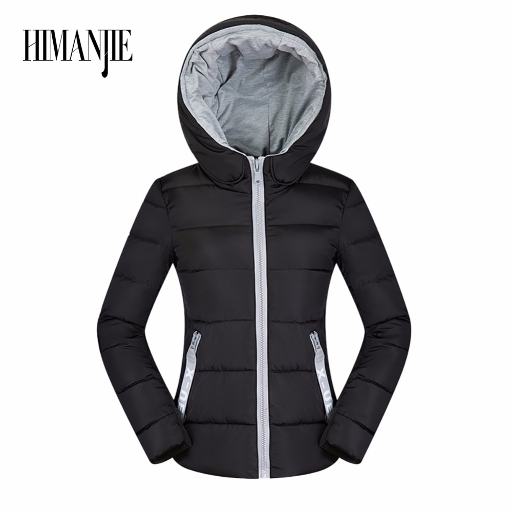 2017 Winter Jacket Hooded Large Sized  Womens Parkas Thicken Outerwear solid hooded Coats Short Female Slim Coat winter jacket women plus size womens parkas thicken outerwear solid hooded coats short female slim cotton padded basic tops