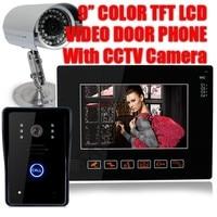 HOMSECUR 9 ЖК сенсорный ключ видео дверной звонок с CCTV камеры для домашней безопасности ES местная доставка