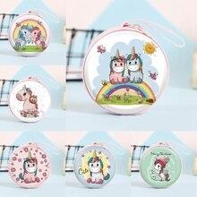 Новинка, Женская мини-сумка Kawaii, мультяшный единорог, кошелек для монет, милый детский кошелек для девочек, органайзер для наушников, коробка, сумки, рождественский подарок