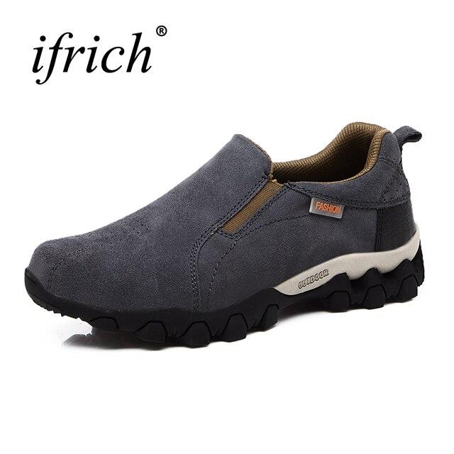 2019 Новое поступление весна/осень мужская походная обувь уличные ботинки слипоны походные ботинки резиновые кожаные альпинистские кроссовки