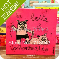 Size:232x217x122/ large tin box with French cartoon artwork/ gift box decoration box
