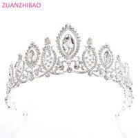 New Arrivals Crystal Royal Tiaras For Brides Hair Jewelry Shiny Rhinestone Bridal Crowns Wedding Tiara Princess Crown Diadema