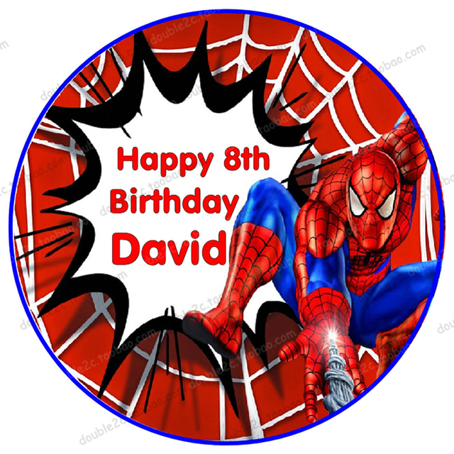 Spiderman Edible Paper for Cake Topper 1pcs 8 Printing Wafer Paper