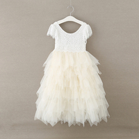Retail 2018 Girls lace dresses , girls lace party princess dress , tutu dress ,kids dresses for girls,FC288
