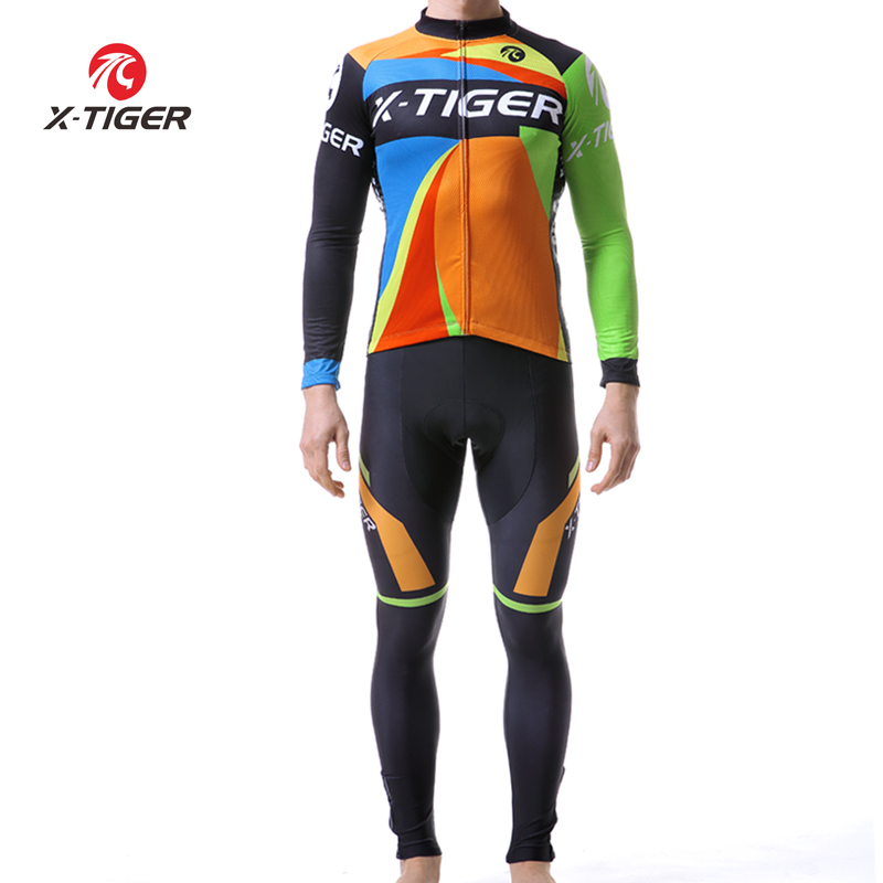 X TIGER Long Sleeve Cycling Jersey Set MTB Bicycle Cycling Clothing Bike Wear Clothes Kit Maillot