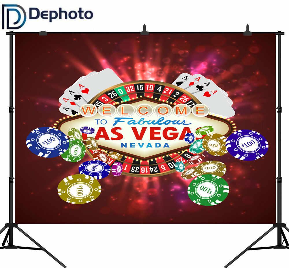 DePhoto Vinyl fotografia tło kasyno Las Vegas karta wspaniałe tło strony photoball Photocall Decor drukowane na zamówienie